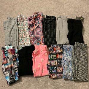Girls LOT leggings size 7/8